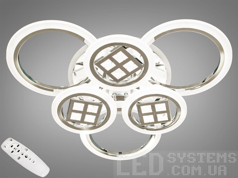 LED-люстра с диммером и RGB подсветкой, 120WСерия 8022, Потолочные люстры, Светодиодные люстры, Люстры LED, Потолочные, Новинки
