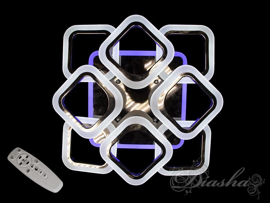 Потолочная люстра с диммером и LED подсветкой, цвет чёрный хром, 110W. Потолочная люстра с диммером и LED подсветкой, цвет чёрный хром, 110W Всего за 2070грн.