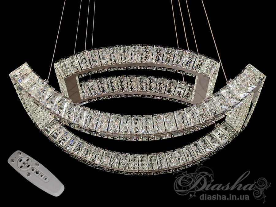 Хрустальная светодиодная люстра-подвес, 80WСветодиодные люстры, Люстры LED, Подвесы LED, Новинки