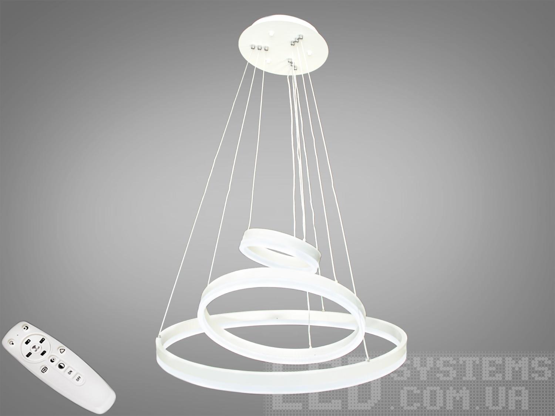 Современная светодиодная люстра с диммером, 90WСветодиодные люстры, Люстры LED, Подвесы LED, Новинки