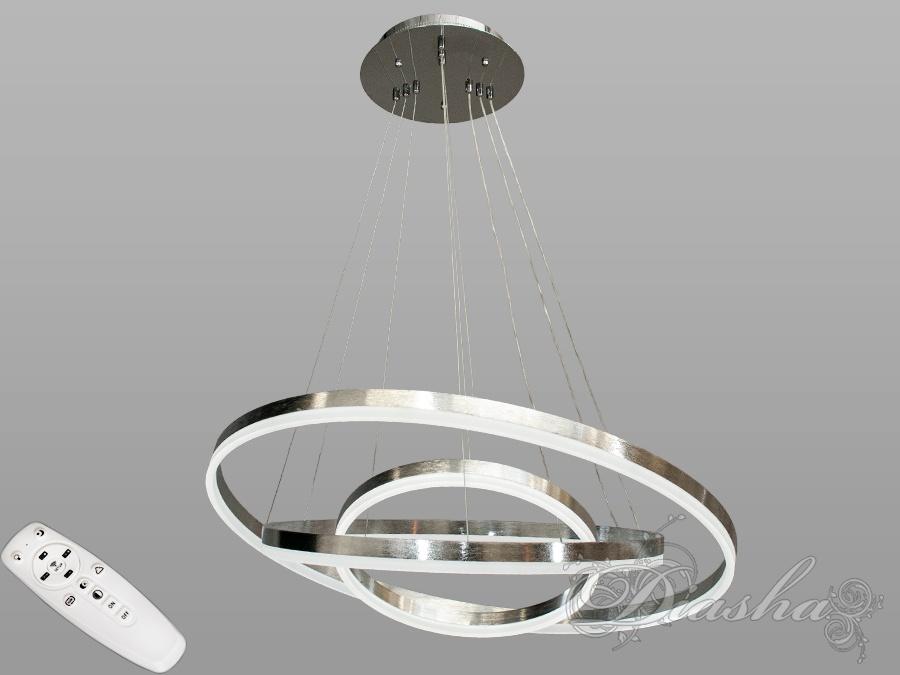 Современная светодиодная люстра с диммером, 160WСветодиодные люстры, Люстры LED, Подвесы LED, Новинки