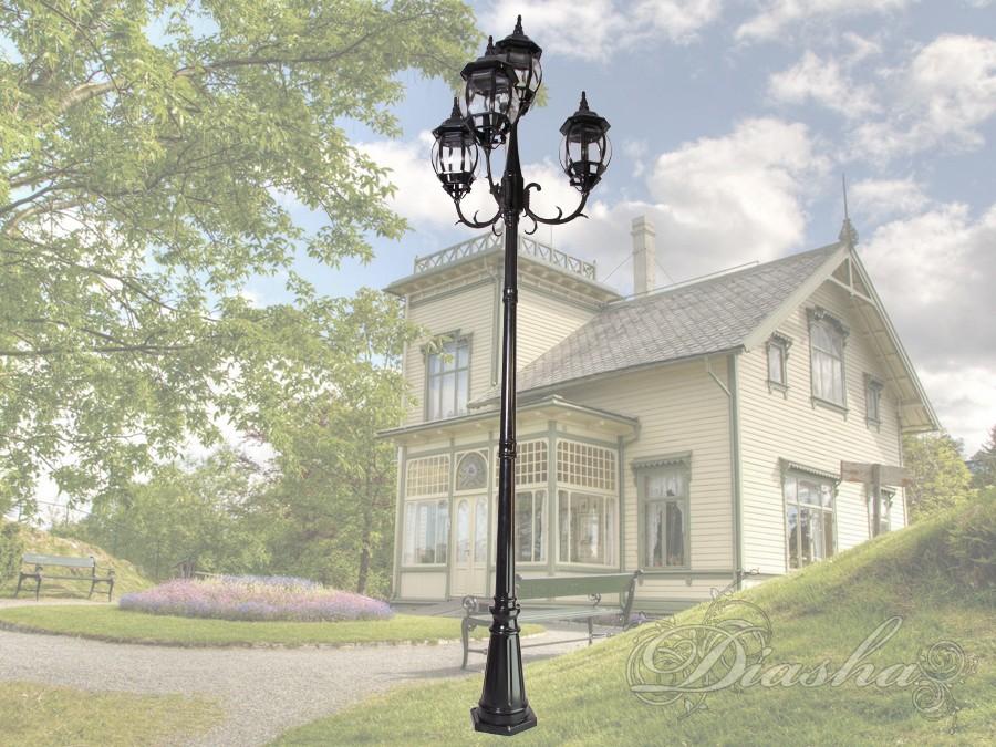 Фонарь садово-парковый на 4 рожкасадовые светильники, уличные светильники, Фонари парковые
