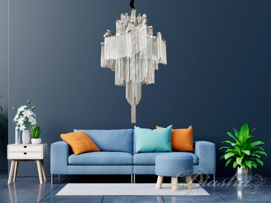 Современная классическая люстра с цепочками, на 8 ламп. Современная классическая люстра с цепочками, на 8 ламп Всего за 14940грн.