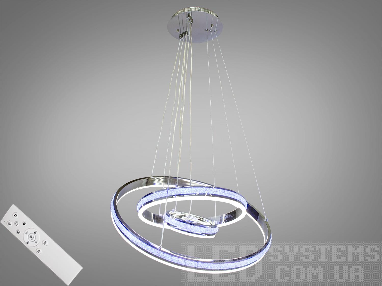 Современная светодиодная люстра с диммером, 175WСветодиодные люстры, Люстры LED, Подвесы LED, Новинки