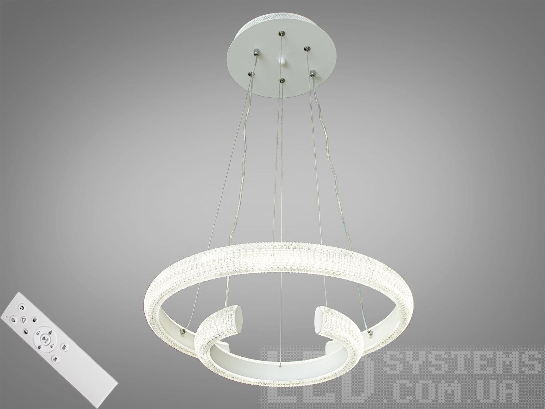 Современная светодиодная люстра с диммером, 45WСветодиодные люстры, Люстры LED, Подвесы LED, Новинки