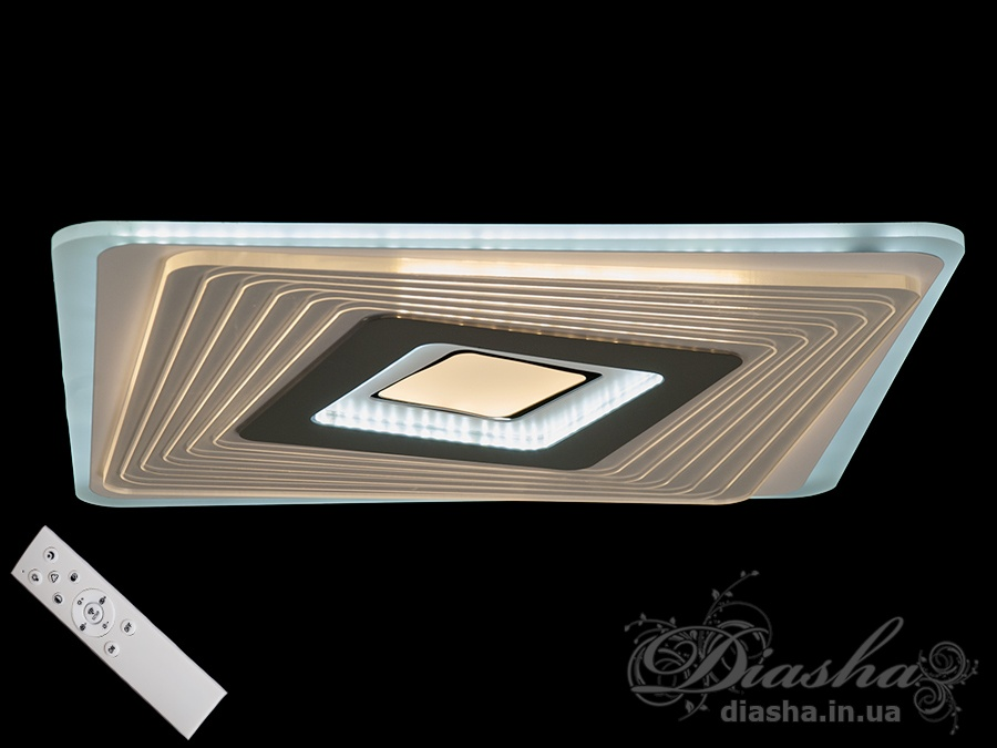Потолочная светодиодная панель с диммером 95WПотолочные люстры, Светодиодные люстры, Люстры LED, Потолочные, светодиодные панели, Новинки