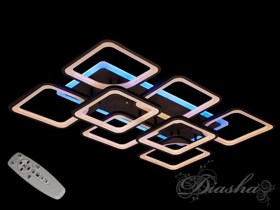 Перед Вами совсем новое и необычное исполнение плафонов, обрамляющих LED лампы. Такая люстра запросто подойдет под любой интерьер – классический, современный и даже в стиле «хай-тек».В комплекте с люстрой идёт самый современный тип пульта с электронным диммером и регулятором цвета. С пульта можно включить один из предустановленных режимов освещения - тёплый свет, холодный свет, нейтральный; включить синююю подсветку или режим