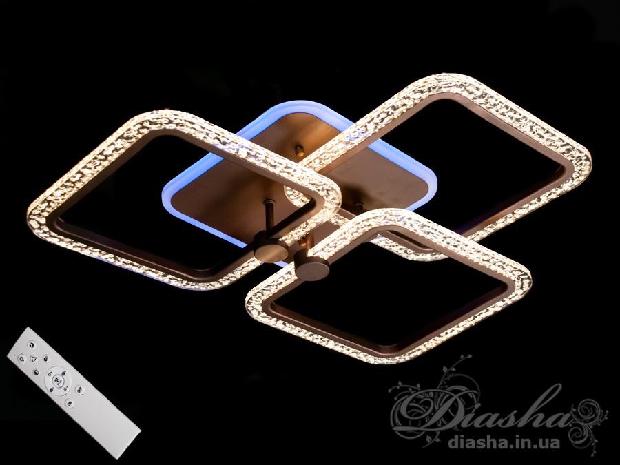 Потолочная светодиодная люстра с диммером 65WПотолочные люстры, Светодиодные люстры, Люстры LED, Потолочные, Новинки