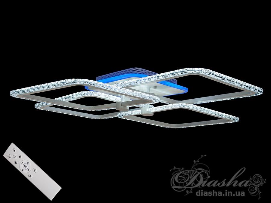 Потолочная светодиодная люстра с диммером 110WПотолочные люстры, Светодиодные люстры, Люстры LED, Потолочные, Новинки