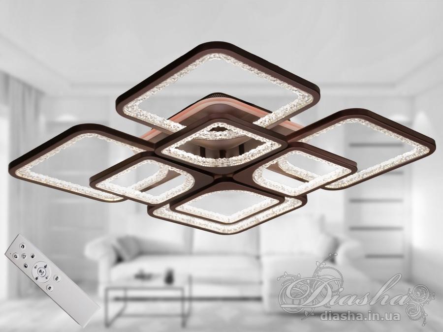 Потолочная светодиодная люстра с диммером 160WПотолочные люстры, Светодиодные люстры, Люстры LED, Потолочные, Новинки