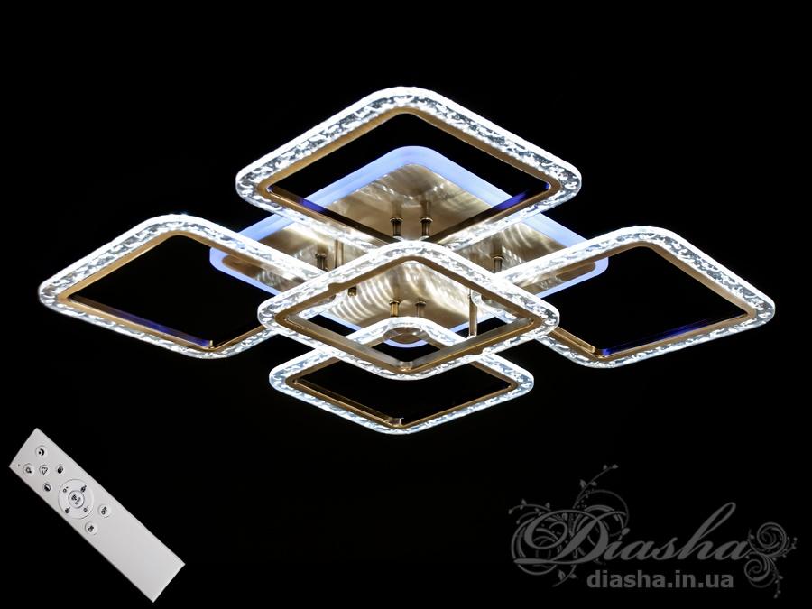 Потолочная светодиодная люстра с диммером 100WПотолочные люстры, Светодиодные люстры, Люстры LED, Потолочные
